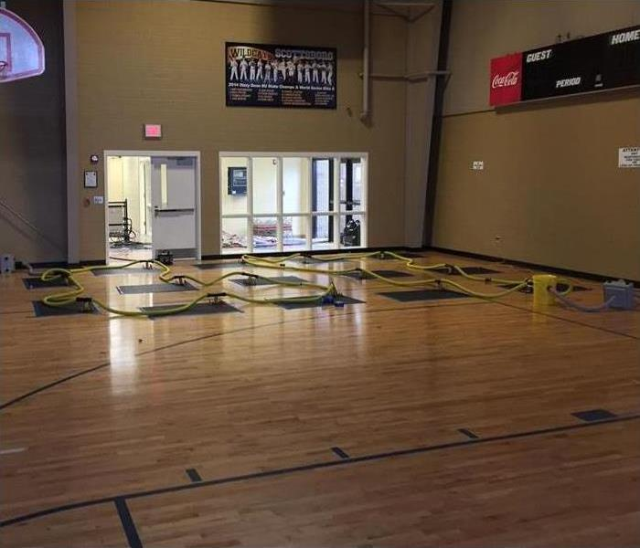 Gym Floor in Progress Before