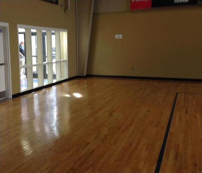 Gym Floor in Progress After