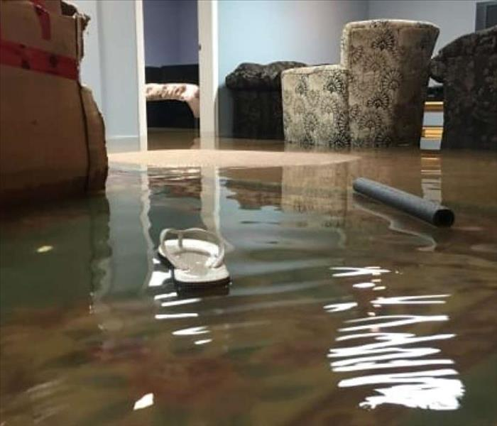 flood water in a living room